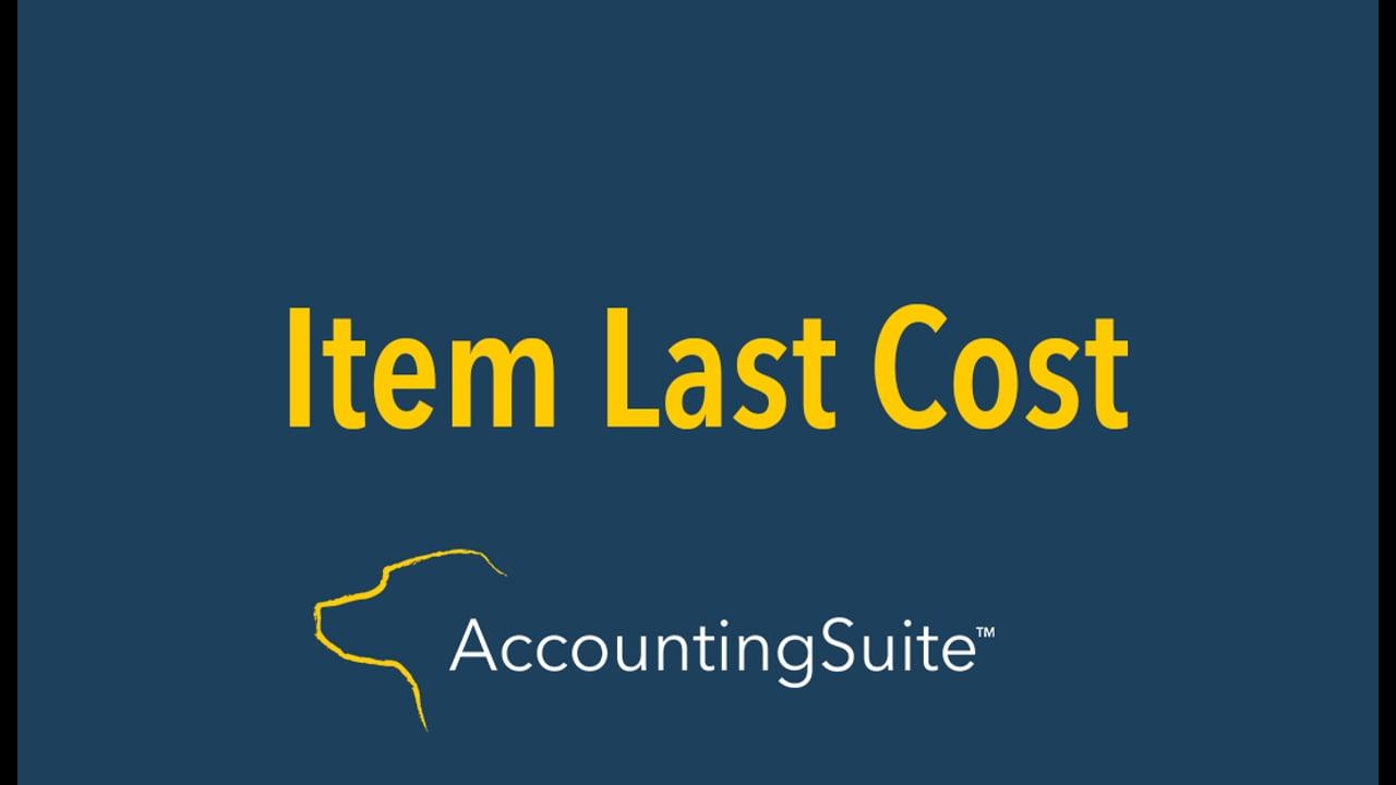 Item Last Cost