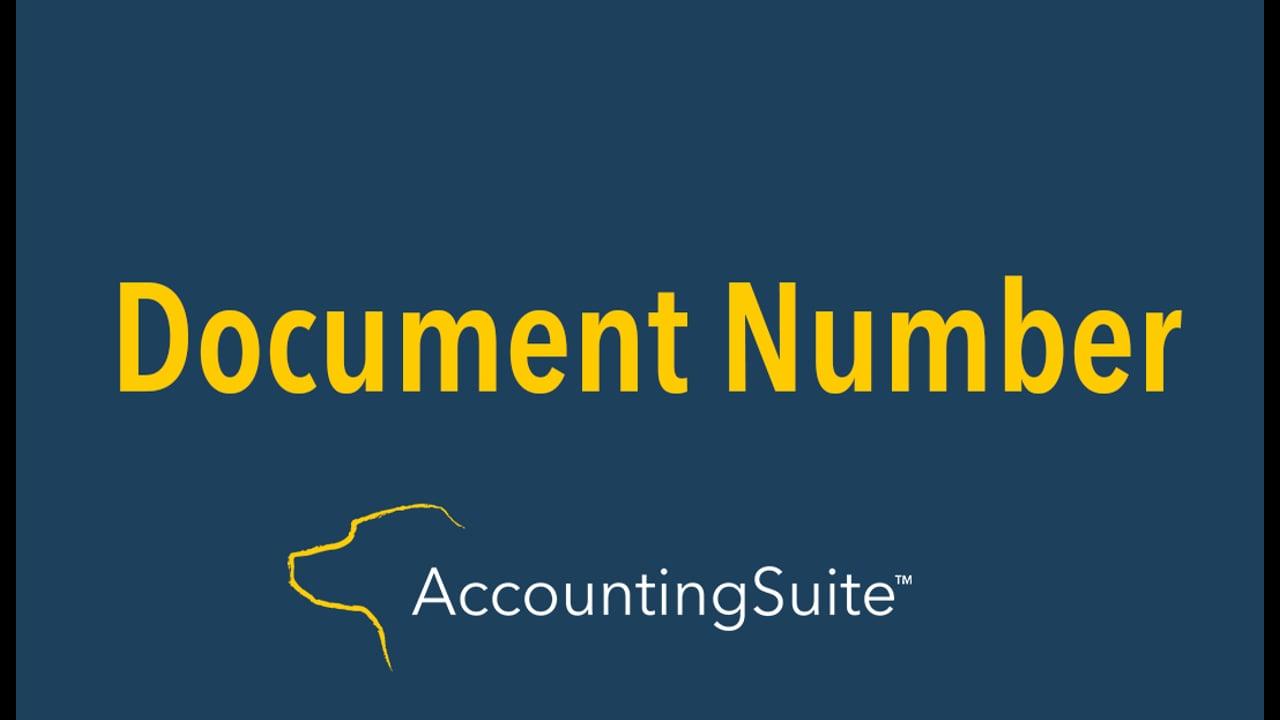 Document Numbering