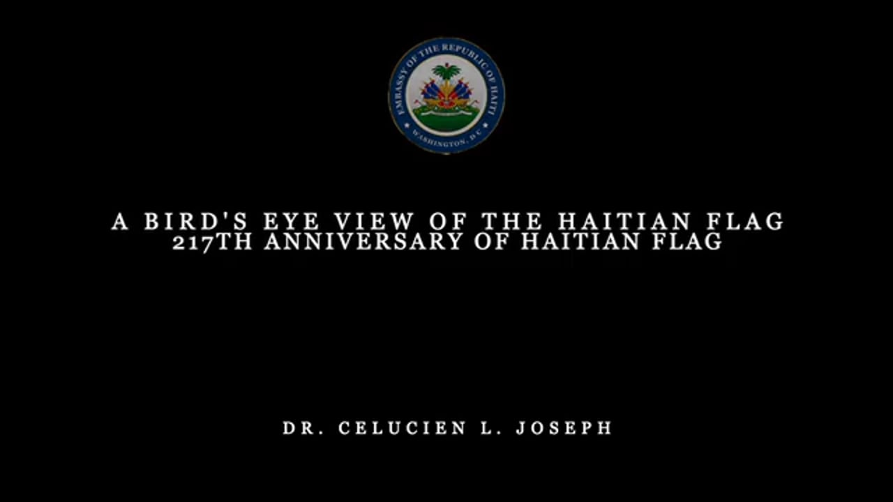 A Bird's Eye View of The Haitian Flag