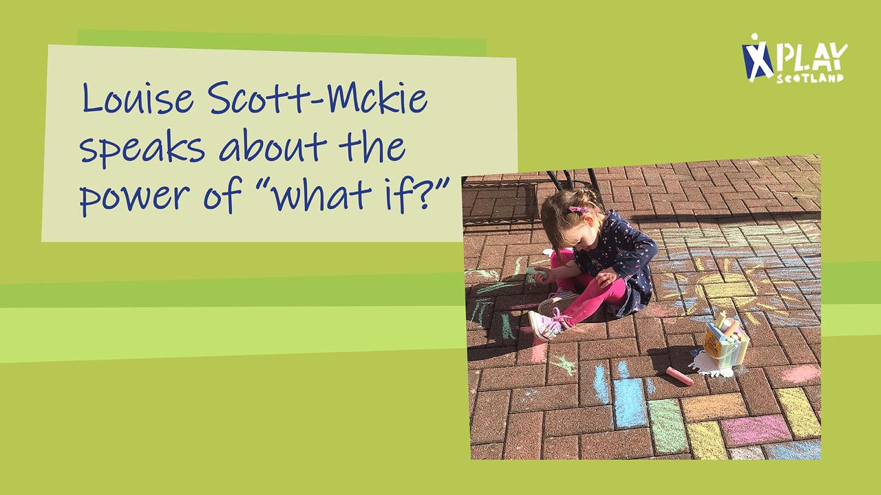 Louise Scott-Mckie speaks about the power of 'what if?'