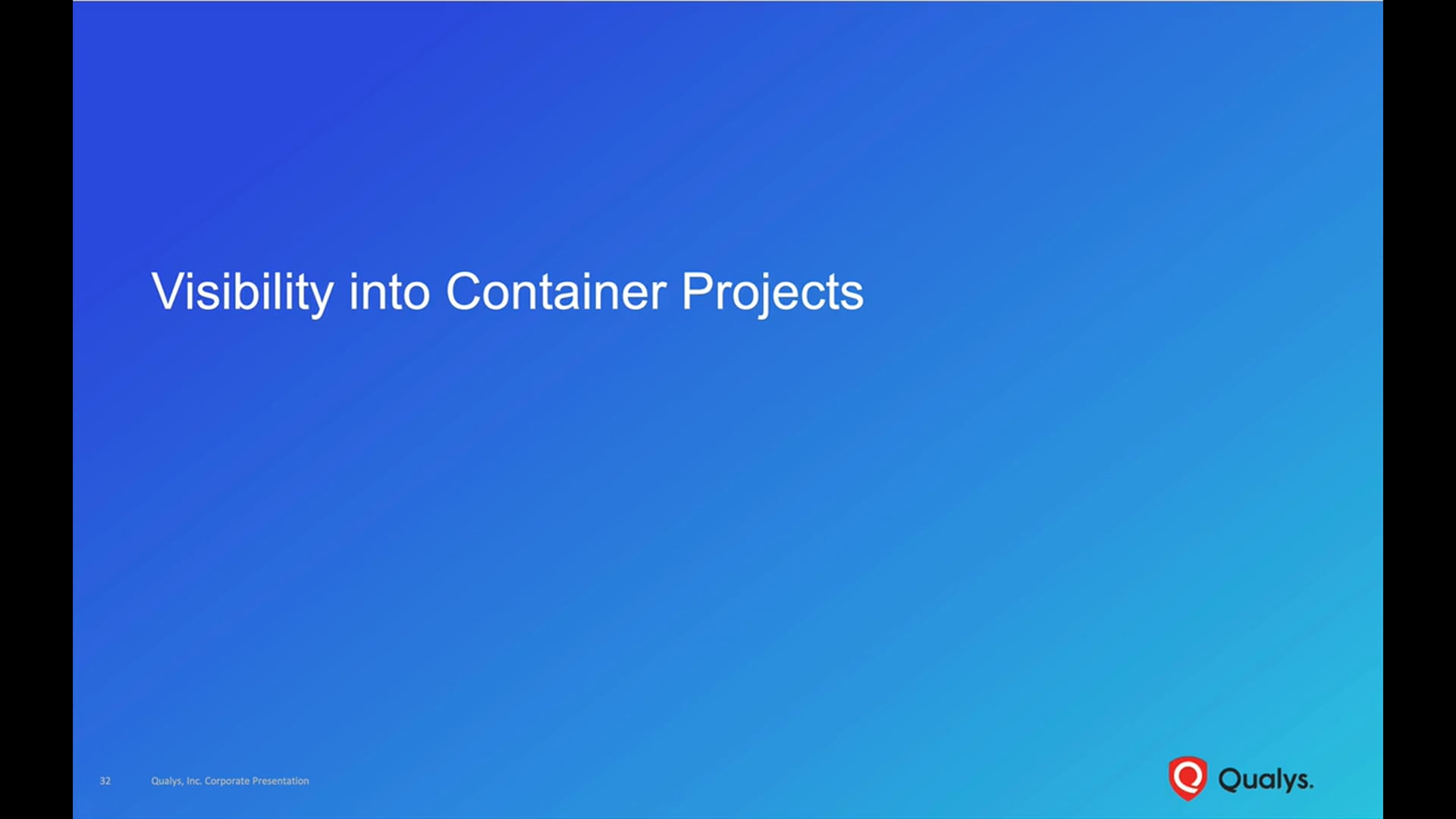 Visibility into Container Projects