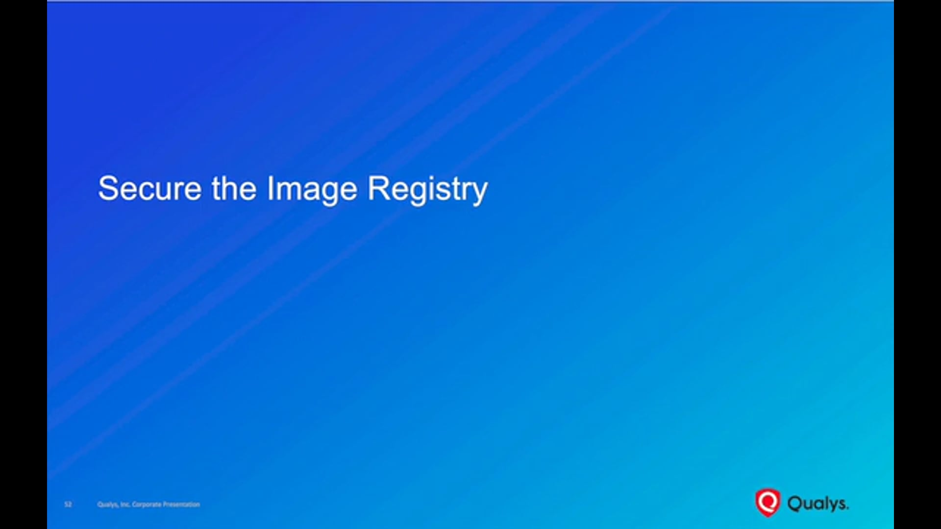 Secure the Image Registry