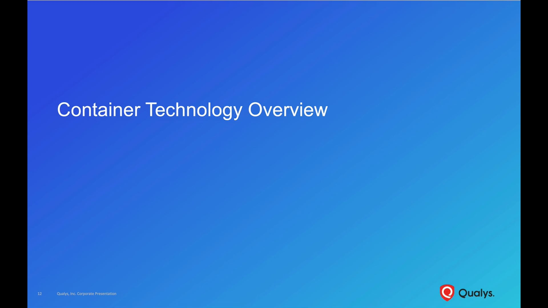 Container Technology Overview