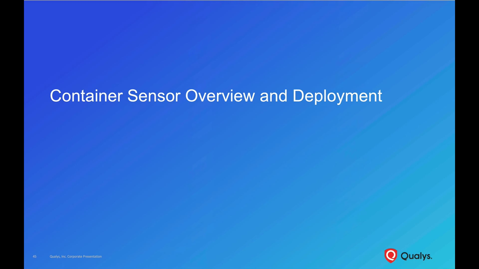 Container Sensor Overview and Deployment