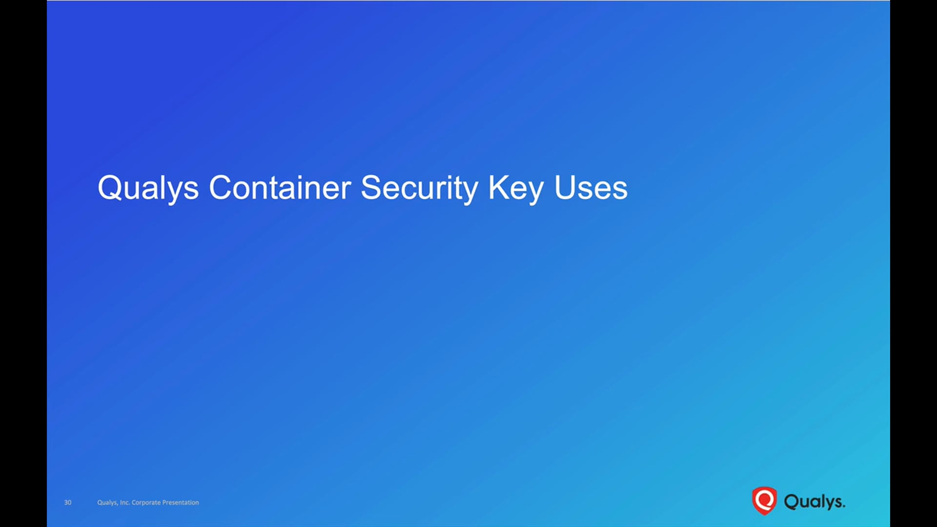 Container Security Key Uses