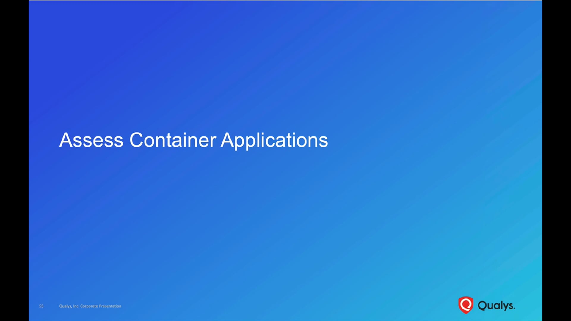 Assess Container Applications