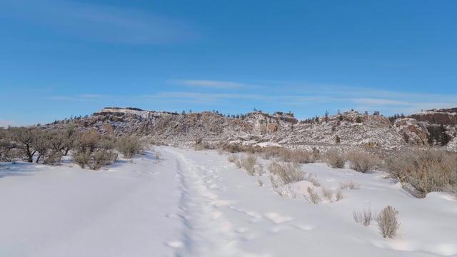 Winter Walk along Northrup Canyon - Short Preview