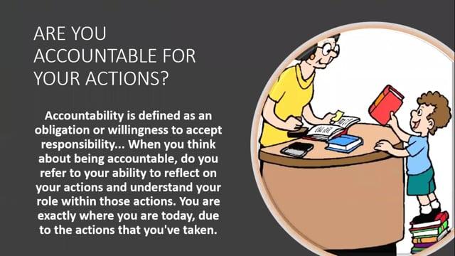 Positive Behavior -  Accountable