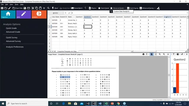 Using the Custom Data Transform and the Custom Text Export in Remark Office OMR