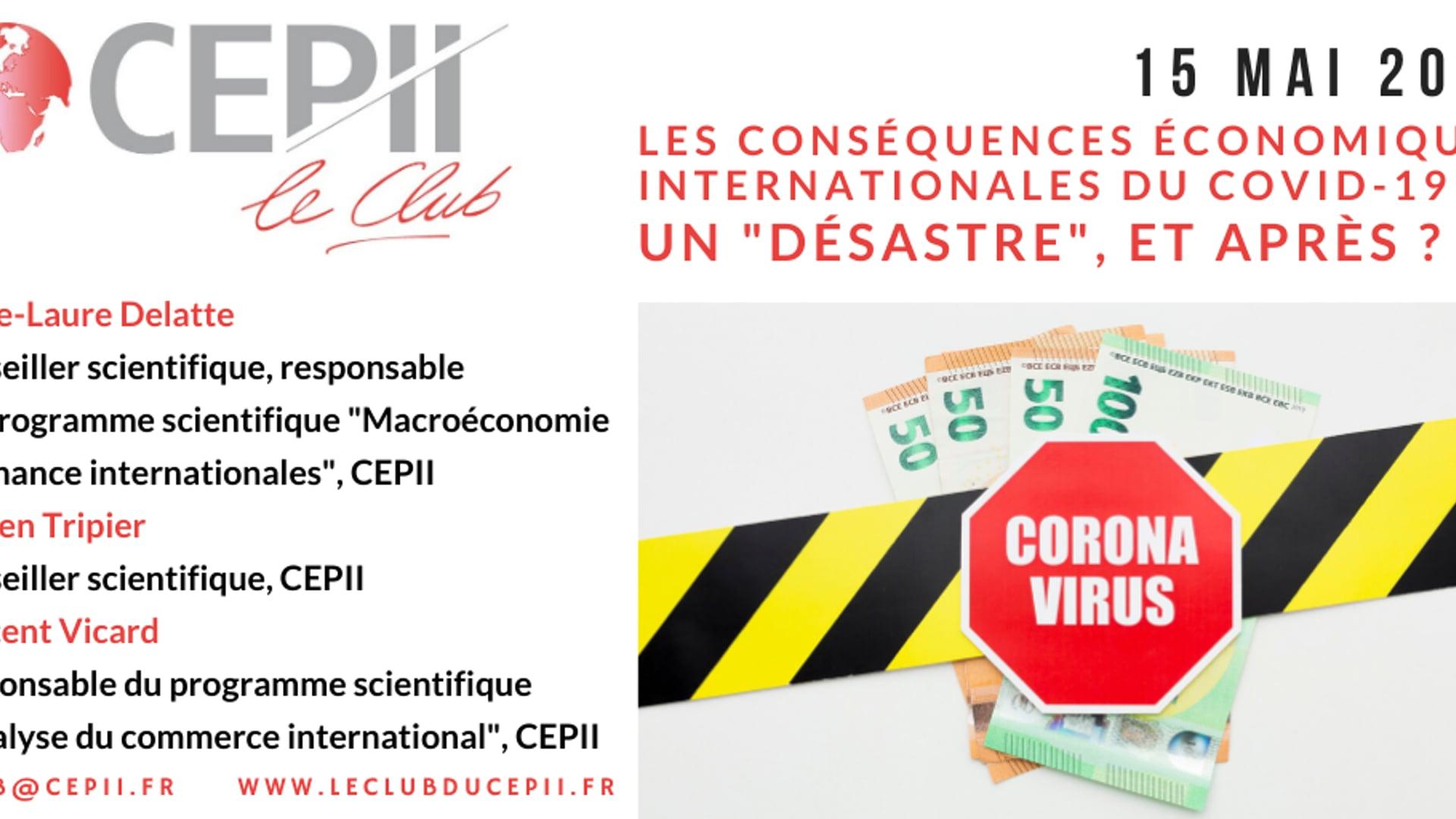 """Les conséquences économiques internationales du Covid-19 : un """"désastre"""", et après ?"""