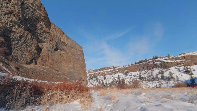 Winter Walk along Northrup Canyon - 4K HDR