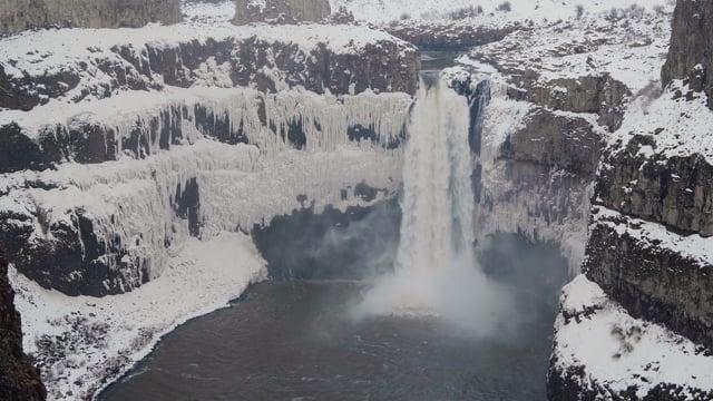 Palouse Falls. Winter. Eastern Washington