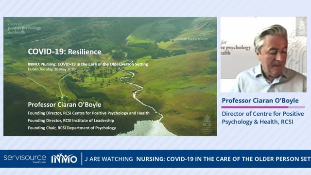Professor Ciaran O'Boyle - Coping with COVID-19, Resilience and Ethics of Practicing in a Pandemic