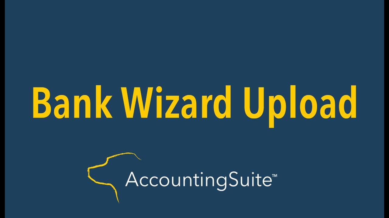 Bank Wizard Upload