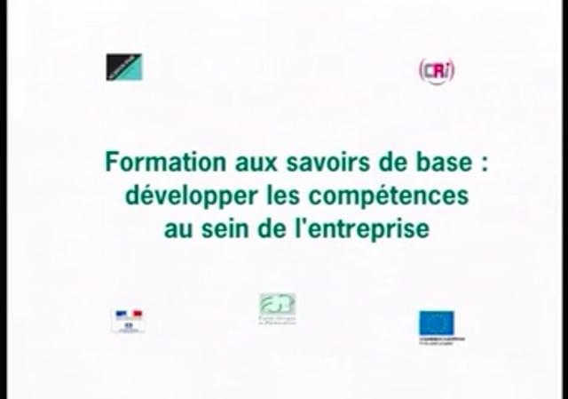 Formation aux savoirs de base : développer les compétences au sein de l'entreprise