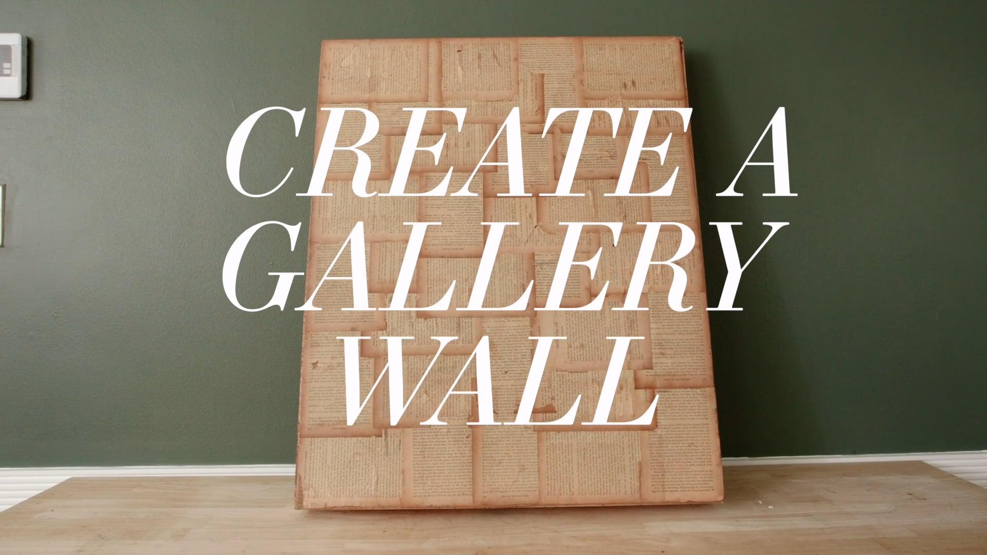 HOW WE HOMESY: Create a Gallery Wall