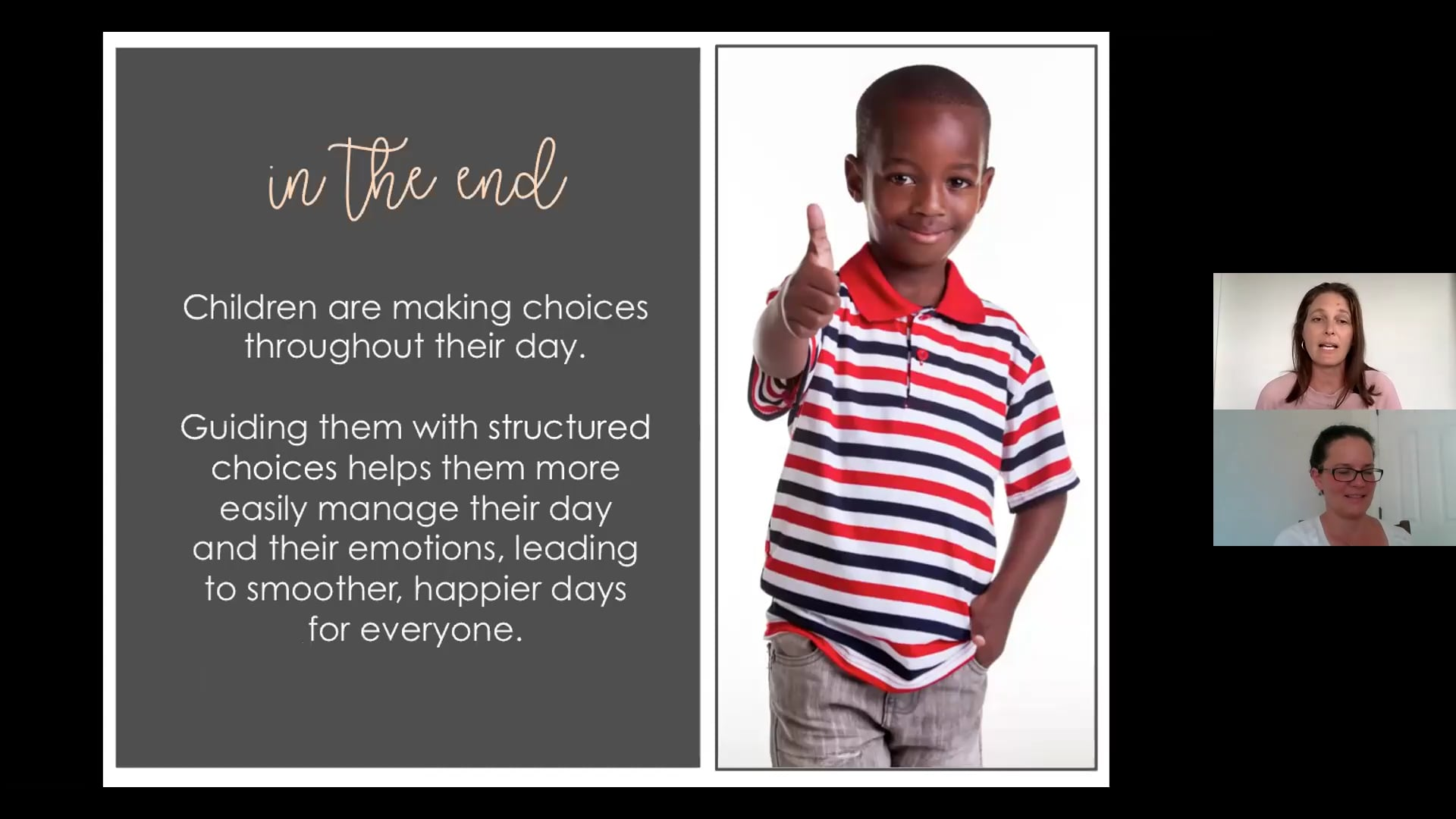 Positive parenting strategies for  toddlers and preschoolers series, CHOICES