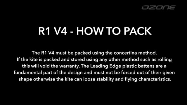 Ozone R1 V4 - How to Pack using the Compressor Bag
