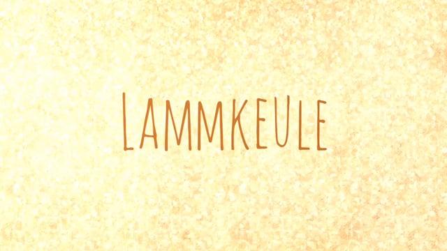 Lammkeule mit Gorgonzola-Mascarpone-Wein-Mischung