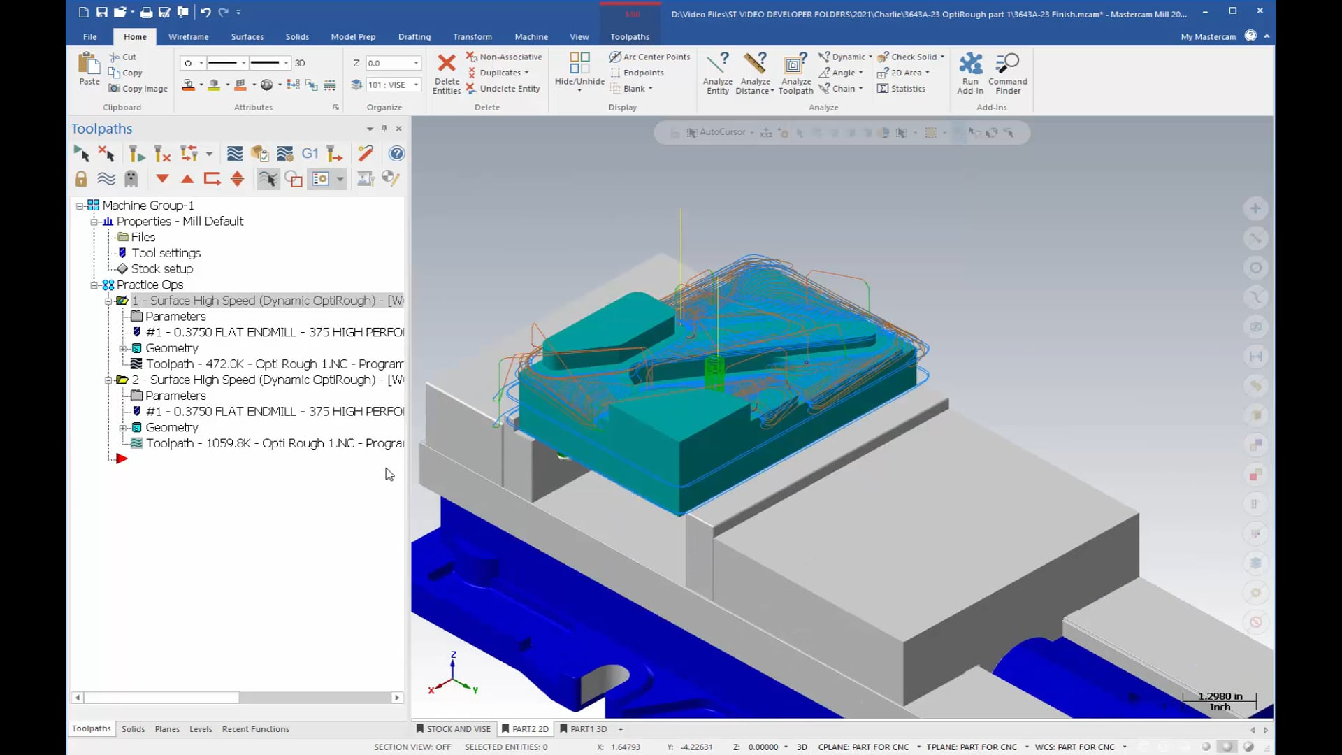 3D Mill Roughing Toolpaths