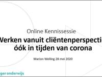 Online kennissessie met Marion Welling