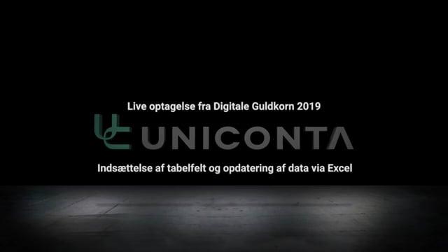 Indsættelse af tabelfelt og dataopdatering i Uniconta.