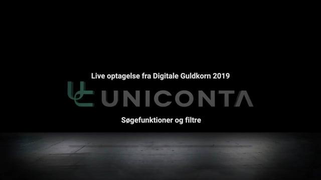 Søgefunktioner og filtre i Uniconta.