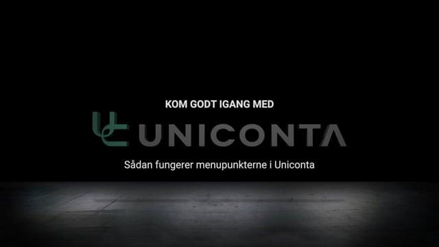 Sådan fungerer menupunkterne i Uniconta