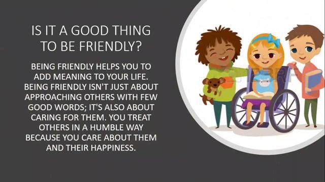 Positive Behavior - Friendliness