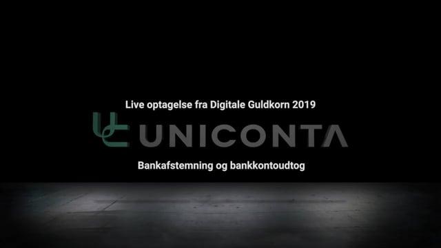 Bankafstemning og bankkontoudtog i Uniconta.