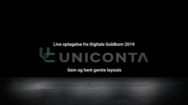 Gem og hent gemte layouts i Uniconta.
