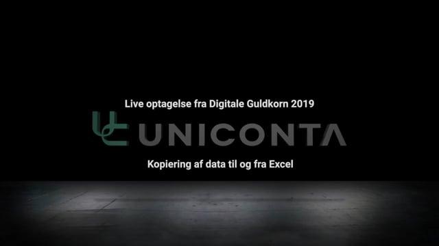 Kopiering af data mellem Uniconta og Excel.