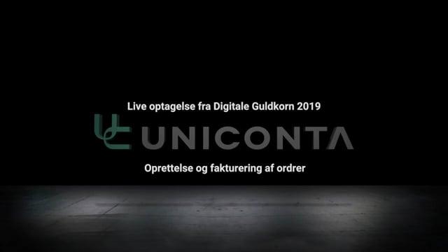 Oprettelse og fakturering af ordrer i Uniconta.