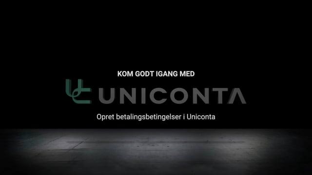 Opret betalingsbetingelser i Uniconta