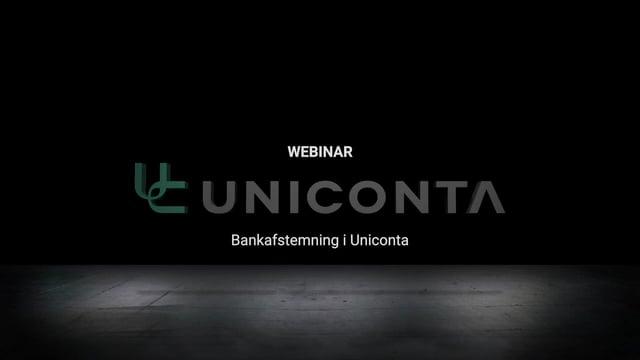 Bankafstemning i Uniconta