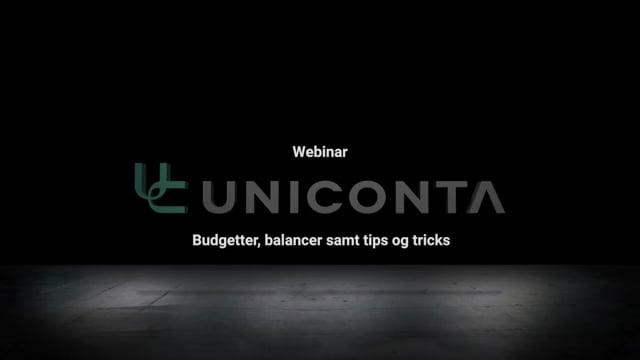 Budgetter, balancer samt tips og tricks