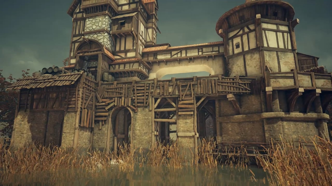 The Stylized Medieval Lake House
