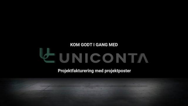 Uniconta Projektfakturering med projektposter