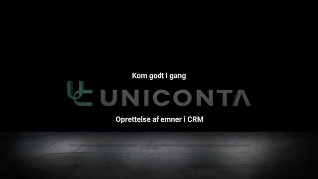 Oprettelse af emner i CRM