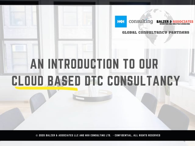 DTC Cloud Based Consultancy Services