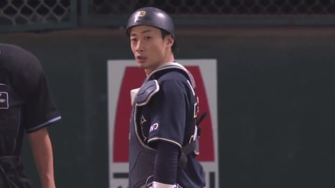 【練習試合】バファローズ・松井雅の強肩!! 見事な送球で盗塁阻止!! 2020/6/11 H-B