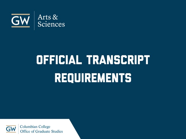 Official Transcript Requirements