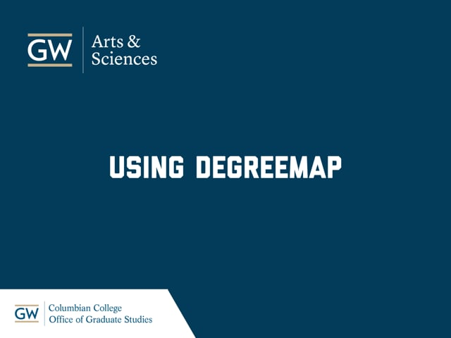 Using DegreeMAP