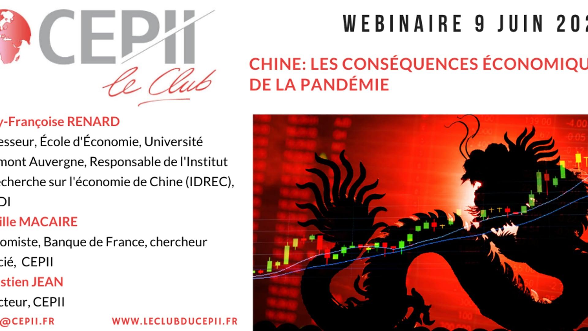 Chine : les conséquences économiques de la pandémie