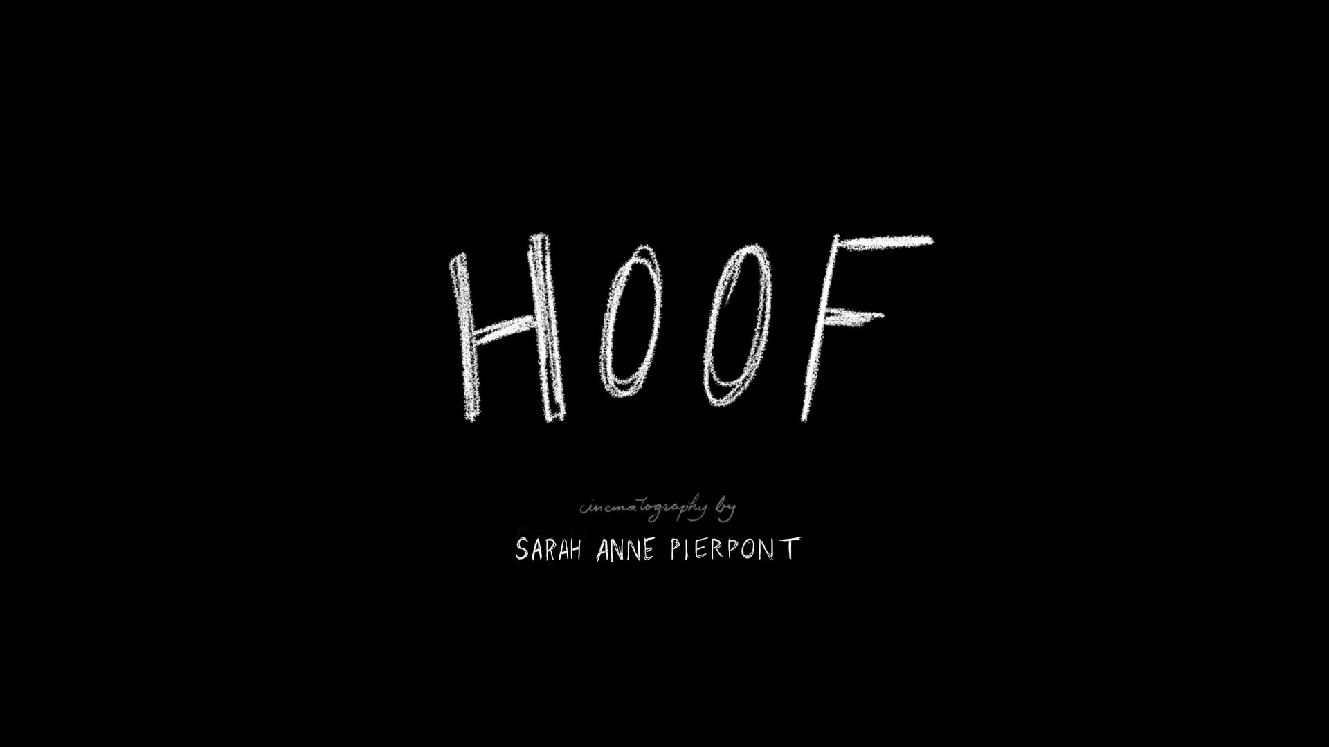 HOOF - Sarah Anne Pierpont