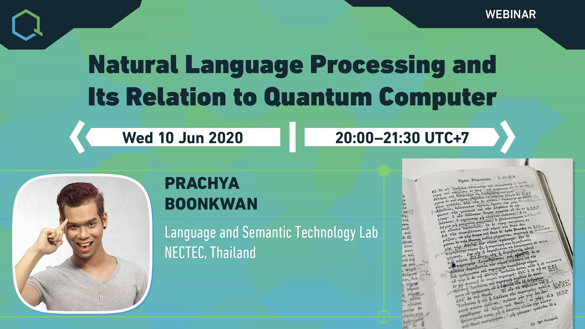 Natural Language Processing and Its Relation to Quantum Computer