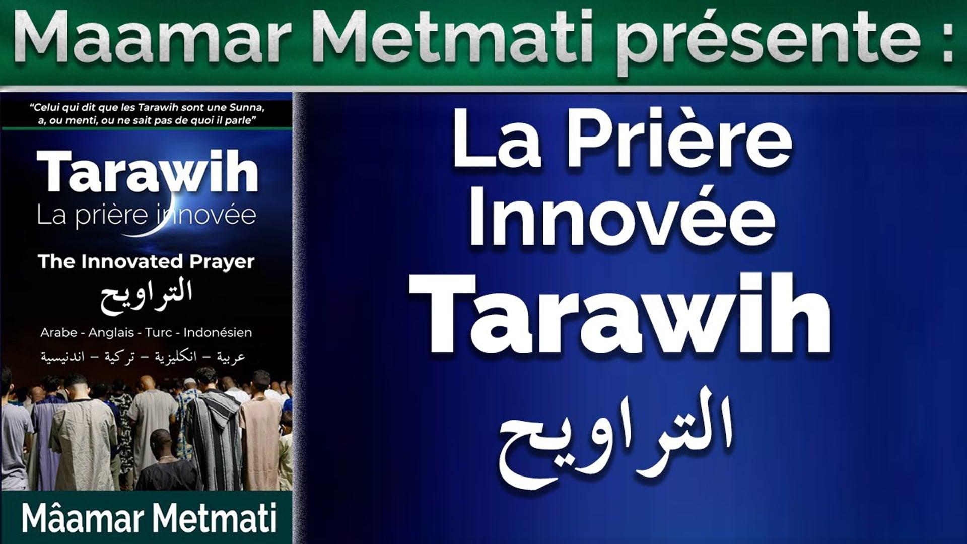 La prière innovée Tarawih  التراويح : Arabe-Français-Turc-Anglais-Indonésien