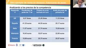 """Casos prácticos de Ecommerce Internacional B2B y B2C"""", ponente Fernando Aparicio de AMVOS Digital"""