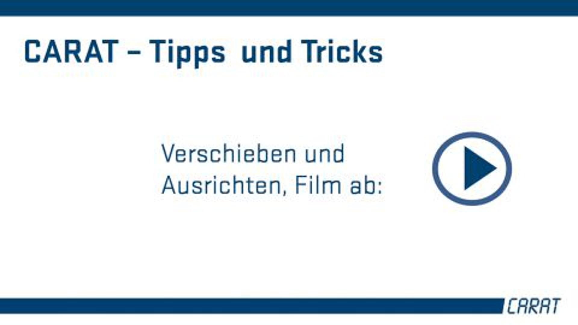 Tipps und Tricks - Verschieben und Ausrichten
