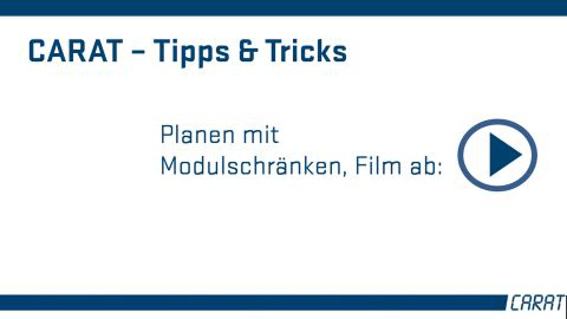 Tipps und Tricks - Modulschränke